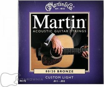 Martin struny do gitary akustycznej .011-.052 Bronze M175