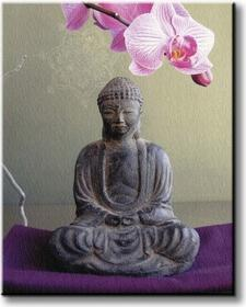 Meditation Sous LOrchydée - Obraz na płótnie