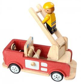 Plan Toys Drewniany wóz strażacki