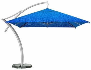 LITEX Promo Sp. z o.o. Parasol ogrodowy Ibiza Quattro 3,5x3,5m Bąbelki Niebieski