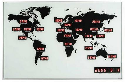 Nextime Zegar ścienny World Time Digit