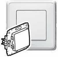 Legrand Cariva - Łącznik jednobiegunowy biały 10AX 773601
