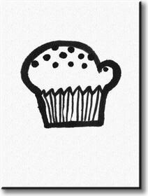 Cupcake - Obraz na płótnie