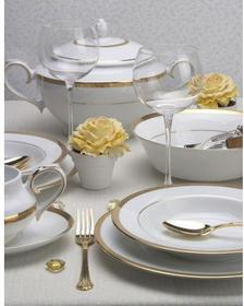 Villa Italia Porcelana Latina Gold - Zestaw obiadowy dla 12 os. PA0995