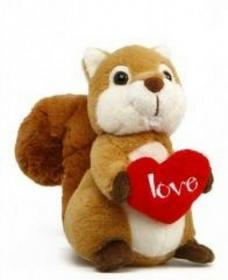 Wiewiórka z sercem 15cm