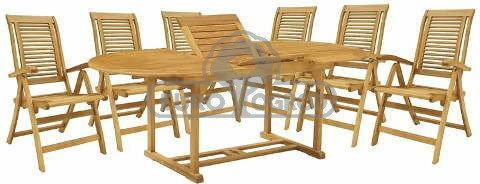 Hecht Meble Ogrodowe Camberet Set Stół + 6 Krzeseł 8595614901468
