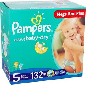 Pampers Active Baby Dry 5 Junior 132 szt.