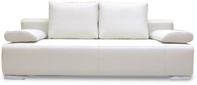Korfu Sofa rozkładana skórzana biała/ecre SMOSBGRANWHT