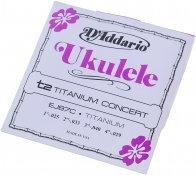 DAddario EJ-87C Titanium Concert struny do ukulele