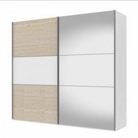 Tvilum Save 250 przesuwne drzwi - biały/dąb/lustro