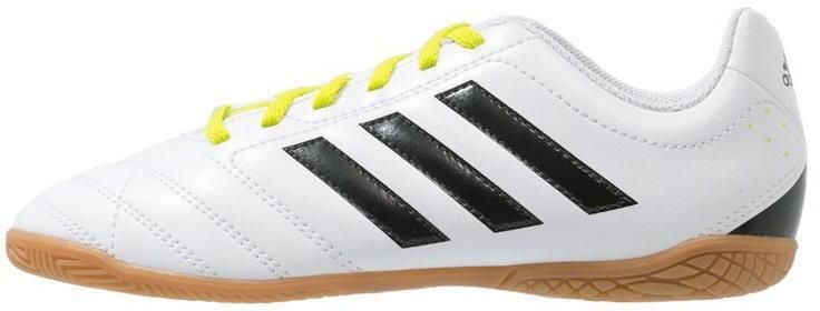Adidas Performance GOLETTO V IN Halówki white/core black/semi solar yellow ILQ32