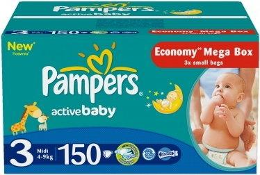 Pampers Active Baby 3 Midi 150 szt.