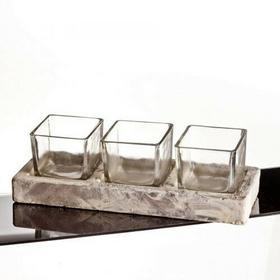 Dekoria Dekoria szklany 3 TRIPETS