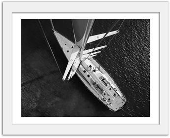 Feeby Jacht 2, Obrazy w ramie - Biały