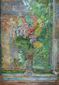Wally Obraz Kwiaty w koszu - Zygmunt Waliszewski
