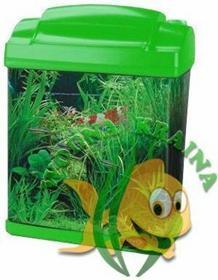 Hailea Akwarium AKRYLOWE+filtr podżwirowy+oświetlenie 6 l zielone