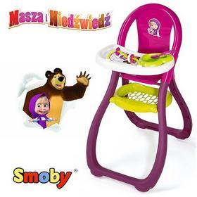 Smoby Krzesełko Do Karmienia Masha i Niedźwiedź 240201
