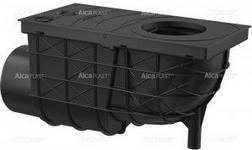 Alcaplast ALCA PLAST Wpust deszczowy uniwersalny 300 x 155/110 boczny, czarny AG