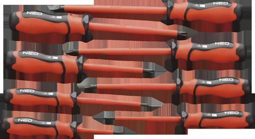 NEO-TOOLS Zestaw wkrętaków 1000V, 9 szt. 04-260