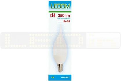 Ledom Żarówka E14 SMD 230V 4W biała ciepła Płomyk 245565