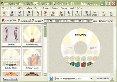Acoustica Acoustica CD/DVD Label Maker