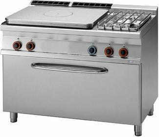 RM Gastro Kuchnia żeliwna gazowa z piekarnikiem gaz. 3x GN 1/1 TPF2 - 712 G/P