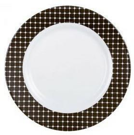 Luminarc Talerz deserowy Tiago 19 cm biały czarny