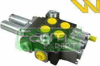 Rozdzielacz hydrauliczny dwusekcyjny sterowany joystickiem (2 sekcje) 40L/min Wa