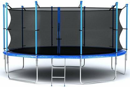 Hop-Sport Trampolina ogrodowa z siatką wewnętrzną 244 cm