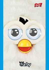 Notatnik A7 Furby w kratkę 50 stron biały-