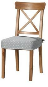 Dekoria Siedzisko na krzesło Ingolf, białe gwiazdki na szarym tle, krzesło Inglo