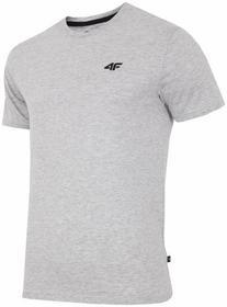 4F [T4L16-TSM300] T-shirt męski TSM300 - jasno szary melanż