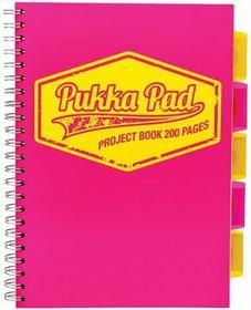 Pukka Pad Kołozeszyt Project Book Neon A4 200 kartek kratka różowy