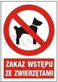 ANRO Zakaz wstępu ze zwierzętami