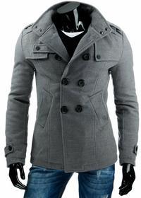 DStreet Płaszcz męski szary (cx0312) - Szary