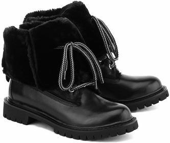 Liu Jo Boy Boots Charline - czarny skóra Trapery Damskie - S65065 P0055 22222