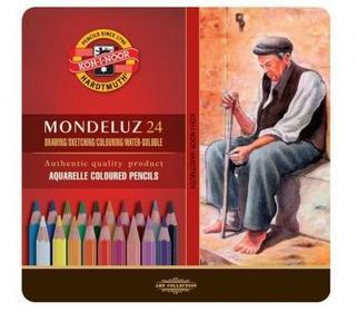 Koh-I-Noor Kredki Mondeluz w metalowym opakowaniu 24 kolory