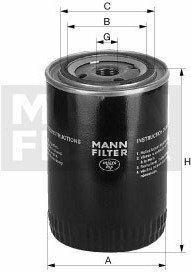 MANN Filtr oleju -FILTER W712/8 W 712/8