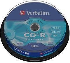 Verbatim Płyta Extra Protection CD-R 700MB x52 - komplet 10