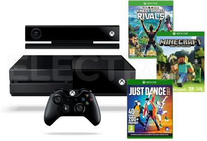 Microsoft Xbox One 1 TB Czarny + Kinect + Minecraft + Just Dance 2017 + Kinect Sports Rivals