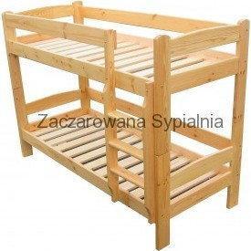 Zaczarowana Sypialnia Łóżko piętrowe DUETTE sosna pod materace 80x200 (bez materacy)