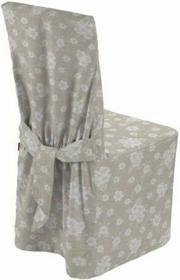 Dekoria Sukienka na krzesło Rustica lniano-beżowe kwiaty