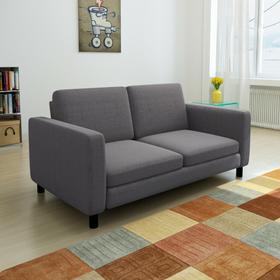 vidaXL Kanapa sofa 2 osobowa ciemnoszara