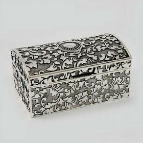 Posrebrzana Szkatułka na biżuterię 461-4862 (461-4862)