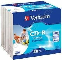 Verbatim CD-R AZO Printable 52x 700MB 20 Slim Case
