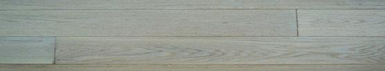 DLH Deska podłogowa lita - Dąb szczotkowany Bielony ABC 18x120x300-1500mm lakier