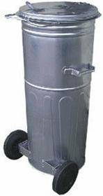 Pojemnik metalowy 110L z kołami MJB110K