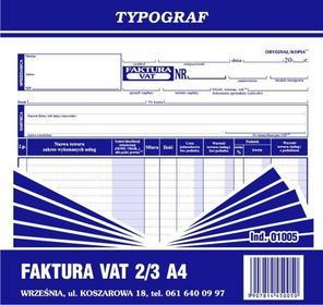 Typograf Faktura VAT 2/3 A4