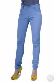 BS Damskie spodnie jeansy rurki błękitne z wyższym stanem