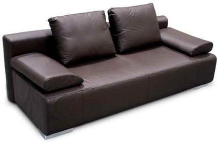 Korfu Sofa rozkładana skórzana ciemny brąz SMOSBFINBROWN